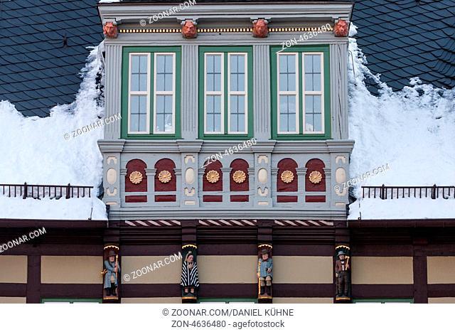 Rathaus Wernigerode Detailaufnahme
