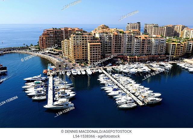 Monte Carlo Harbor Yachts Boats Monaco Principality French Riviera Mediterranean Cote d'Azur Alps