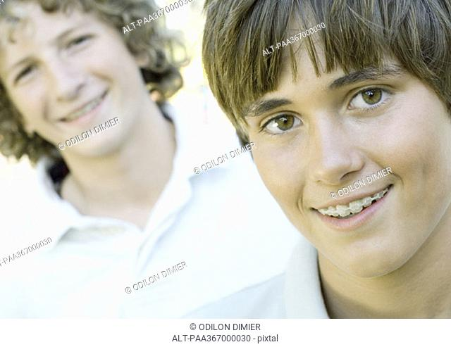 Preteen boys, portrait