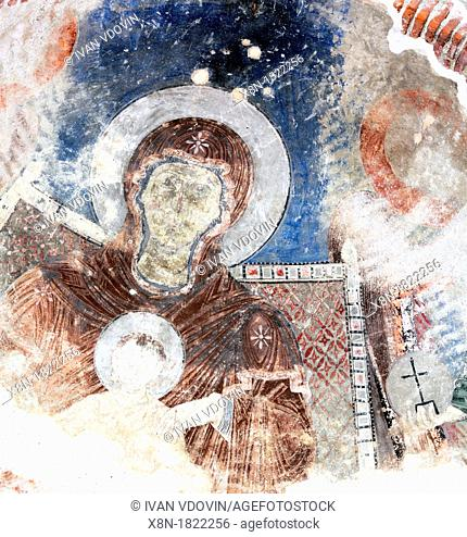 Mural painting 13th century, Church of the Dormition, Timotesubani, Samtskhe-Javakheti, Georgia