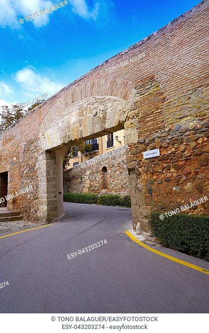 Alhambra main door in Granada Spain at andalusia
