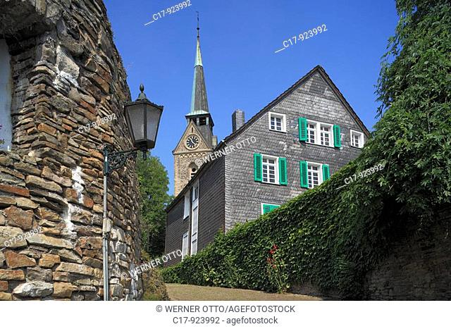 Germany, Wetter Ruhr, Ruhr area, North Rhine-Westphalia, Wetter-Alt Wetter, settlement 'Freiheit', historic town centre, Middle Ages, evangelic church