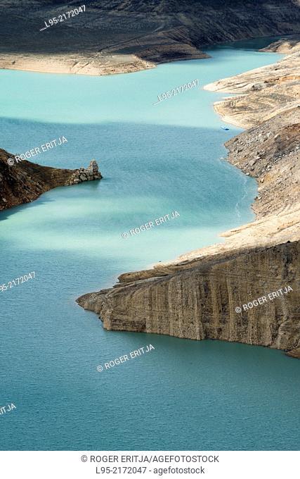 Shores of the reservoir of Canelles, Lleida, Spain