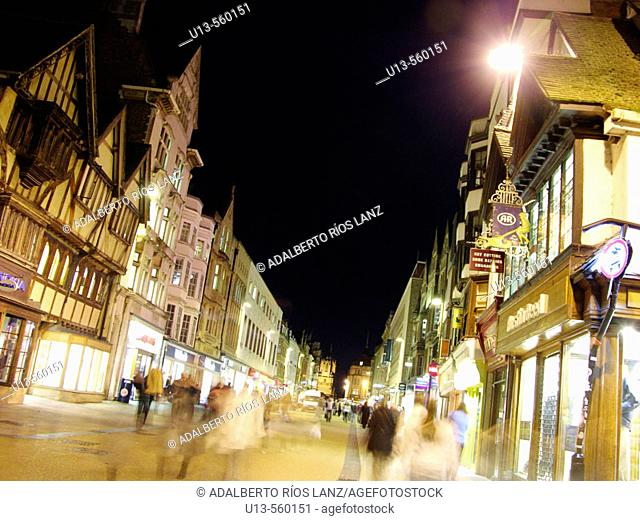 Cornmarket Street Downtown Oxford England