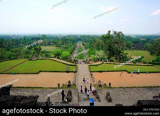 Buddhist temple of Borobudur in Yogyakarta, Java, Indonesia