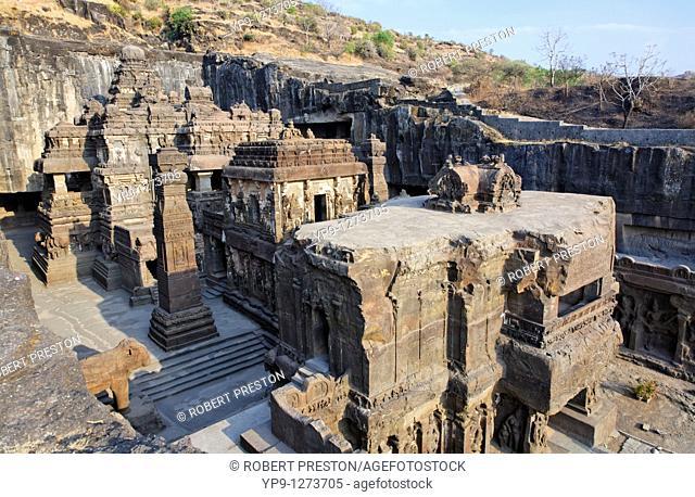 Kailash temple, Ellora Caves, Maharashtra state, India