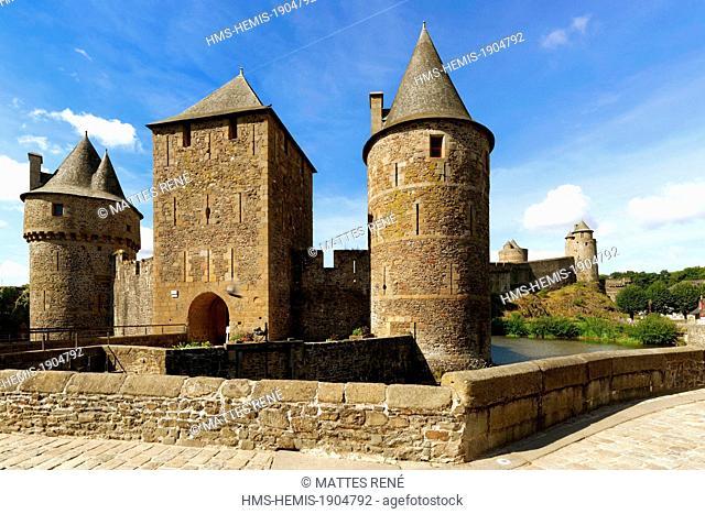 France, Ille et Vilaine, Fougeres, Place Pierre Symon, the castle