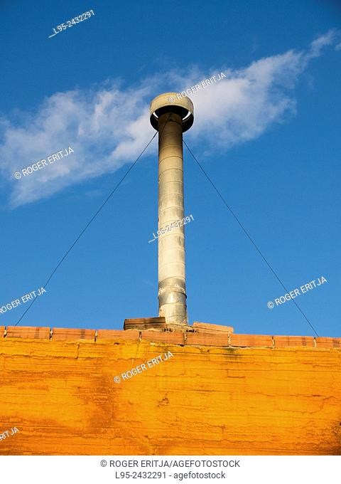Chimney and clouds, Terrassa, Spain