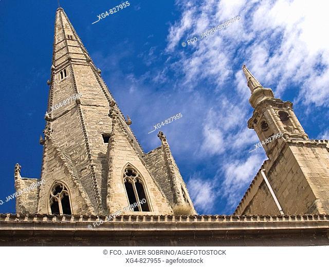 13th Century pyramidal tower of the Church of Santa Maria de Palacio - Logroño - La Rioja - Spain