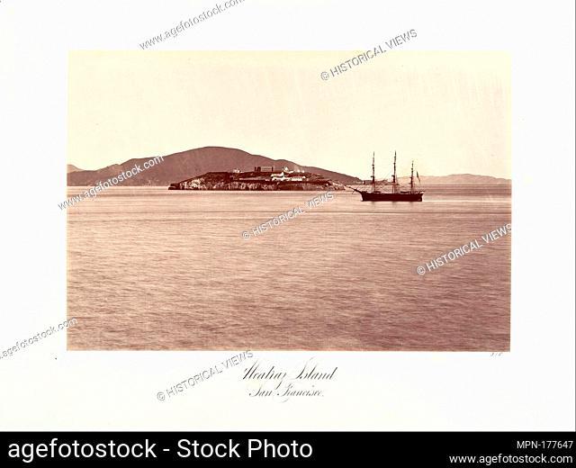 Alcatraz Island, San Francisco. Artist: Carleton E. Watkins (American, 1829-1916); Date: 1868-69, printed ca. 1876; Medium: Albumen silver print from glass...