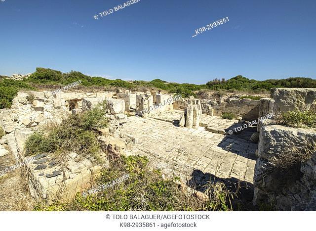 antigua capilla, castillo de San Felipe, 16th century, boca del puerto de Mahón, municipio de Villacarlos, Minorca, Balearic Islands, Spain
