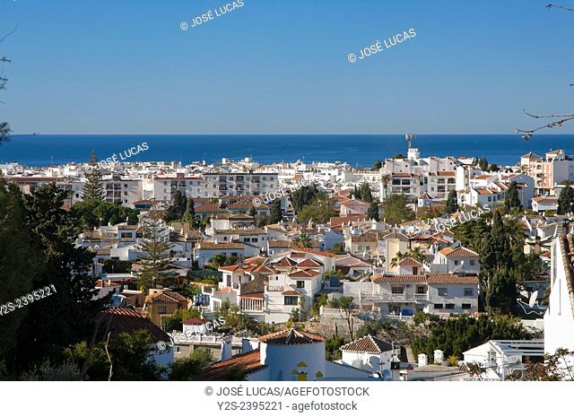 Panoramic view, Nerja, Malaga province, Region of Andalusia, Spain, Europe