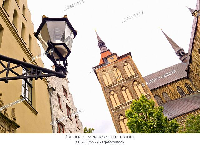 St. Mary Church, St. Marien-Kirche, Marienkirche, Old Town, Rostock, Germany, Europe