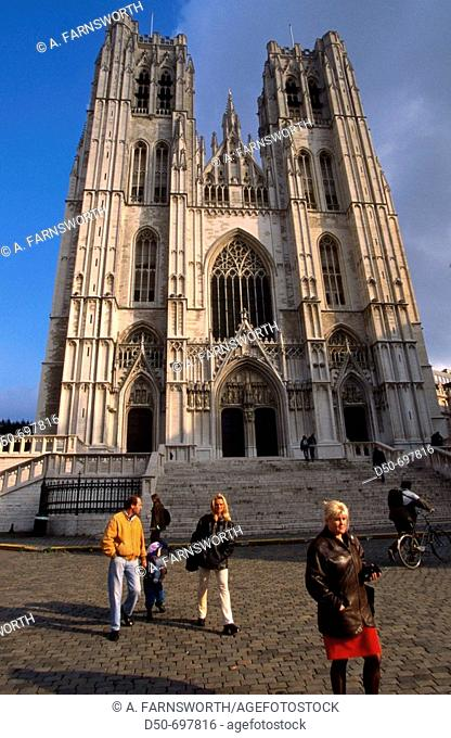 The Saint Michael and Saint Gudula Cathedral in Brussels. This church is to be found at the Treurenberg hill on the edge between lower and upper town