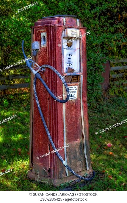 Vintage Tokheim Gas Pump - Abandoned and rusted but still standing. Tokheim began in an Iowa hardware store more than a century ago