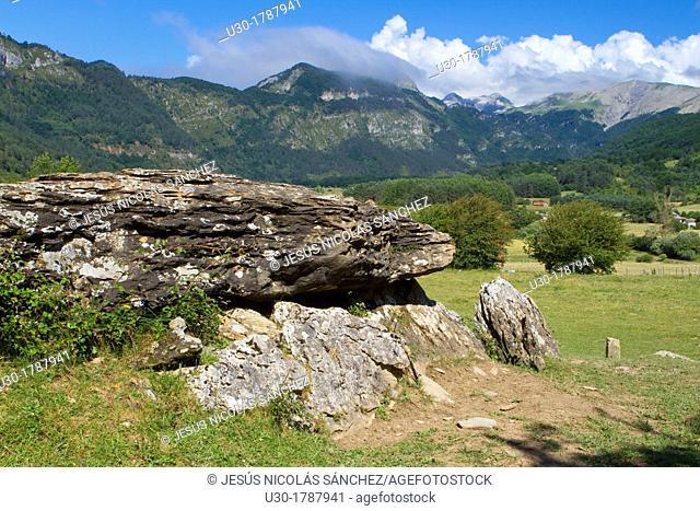Arrako dolmen, in Rincón de Belagua  Isaba  Ronca Valley  Navarra  Spain  Europe