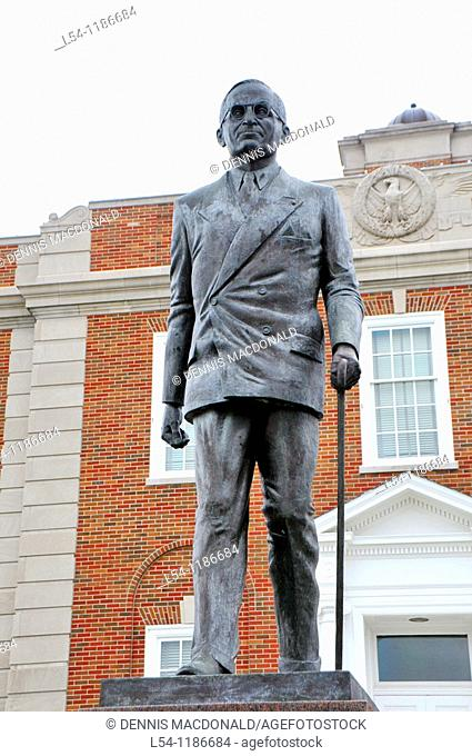 Statue of Harry S Truman Downtown Independence Missouri
