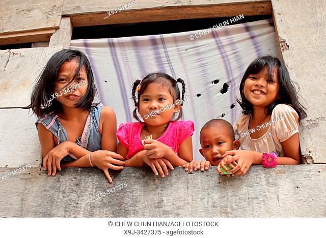 Bajau people in Mabul island, sabah, malaysia, asia