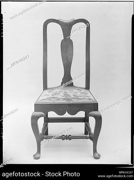 Side Chair. Date: ca. 1735-60; Geography: Probably made in Wellingford, Connecticut, United States; Culture: American; Medium: Maple; Dimensions: 43 1/4 x 21...