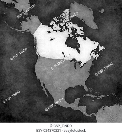Map of North America - Canada