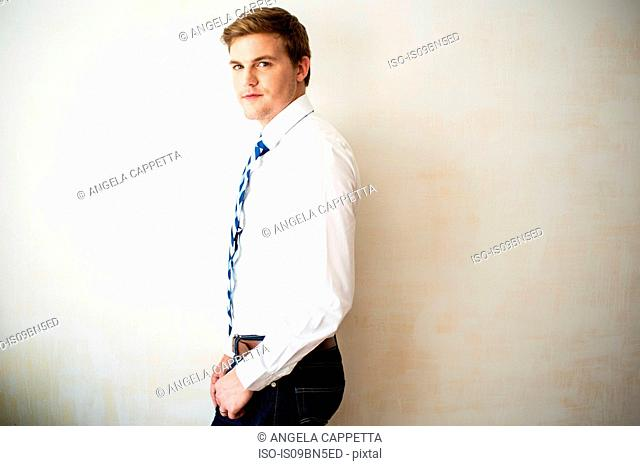 Businessman in shirt and tie