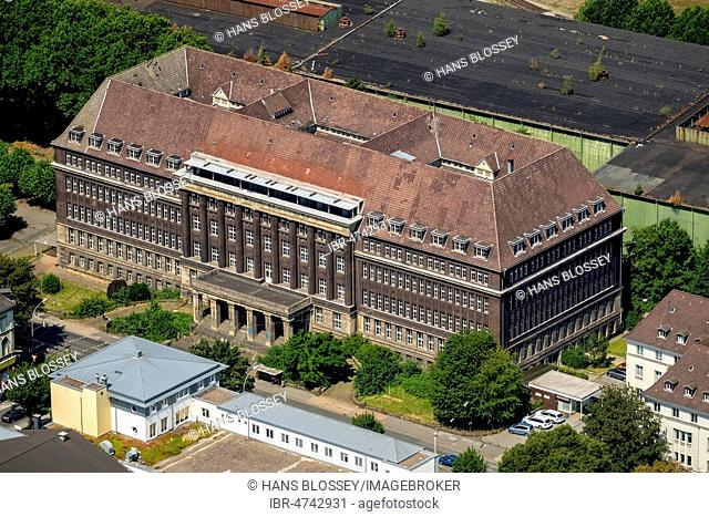 Aerial view, Former pension office Dortmund, monument, industrial culture, union quarter, union, Dortmund, Ruhr district, North Rhine-Westphalia, Germany