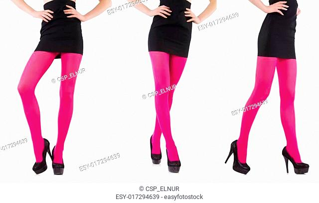 27fd56386a93f Striped leggings isolated on the white Stock Photos and Images | age ...