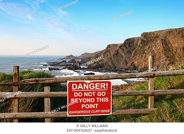Cliff edge danger