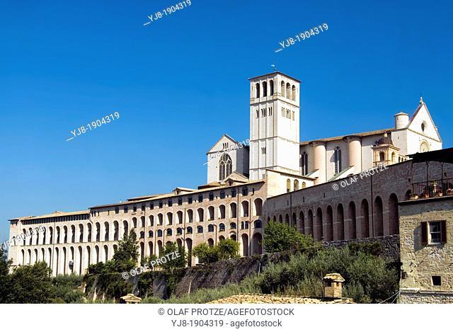 Basilica di San Francesco d'Assisi, Assisi, Umbria, Italy
