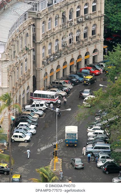 An Ariel view of Car parking near the Horniman Circle ; in Bombay ; now Mumbai ; Maharashtra ; India