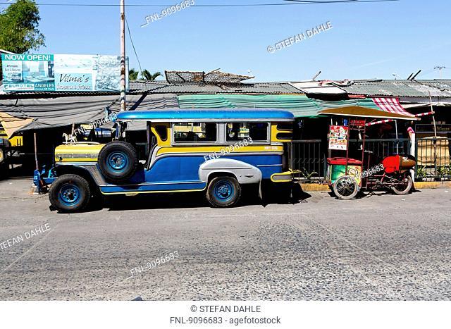 Jeepneys, Angeles City, Luzon, Philippines, Asia