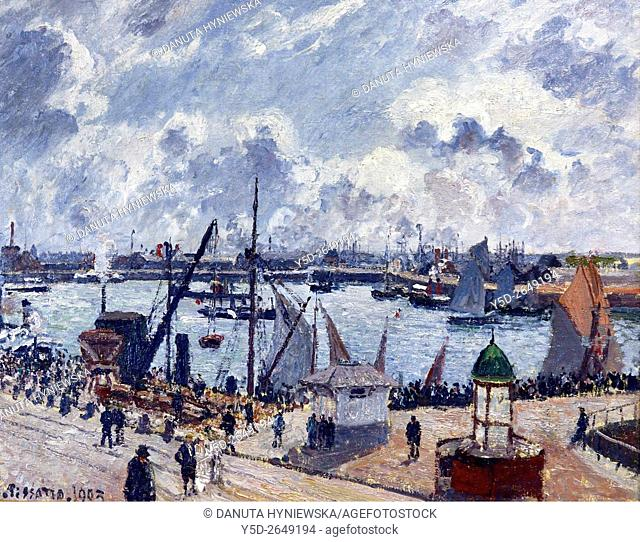 Camille Pissarro, L'Anse des Pilotes, Le Havre, matin, soleil, marée montante - The Anse des Pilotes, Le Havre on Sunny Morning with the Tide Coming in, 1903