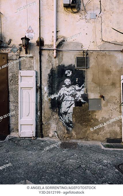 Holy Virgin in Piazza Girolamini, Naples, Italy