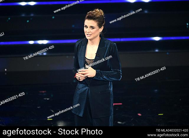 Cristiana Girelli football player of Female Italian National team of football at the 71st Sanremo Music Festival, Sanremo, ITALY-03-03-2021