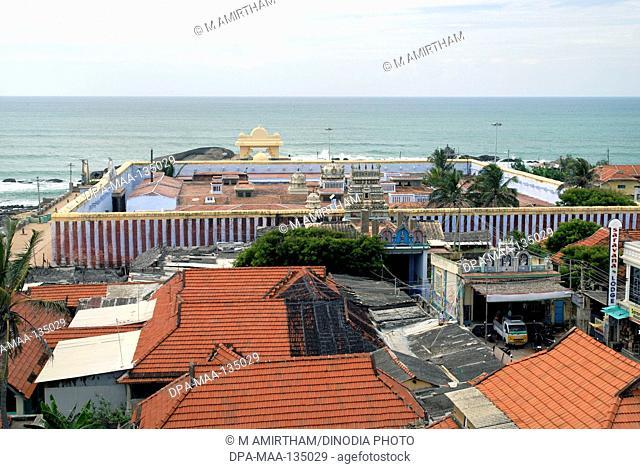 Kumari Amman temple popular pilgrimage centre built by Pandya kings in 8th century , Kanyakumari , Tamil Nadu , India
