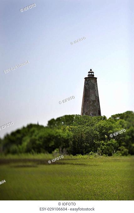 Bald Head Island lighthouse on Bald Head Island, North Carolina