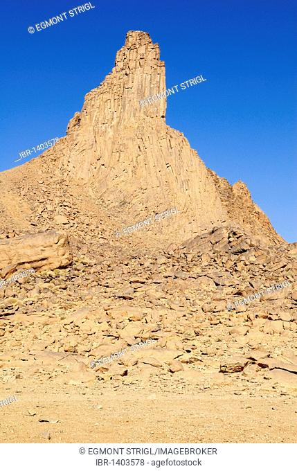 Volcanic rock formation, Hoggar Mountains, Wilaya Tamanrasset, Algeria, North Africa