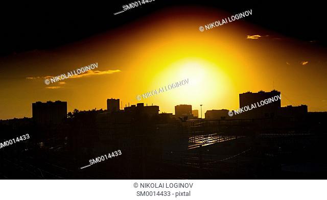 Horizontal city background hd