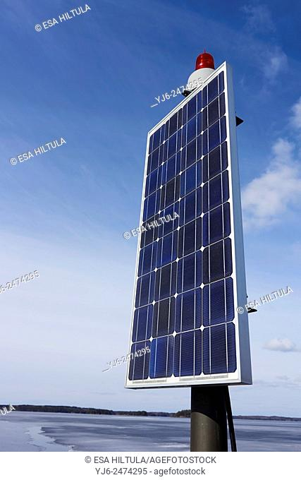 solar panels for electricity production, Finland