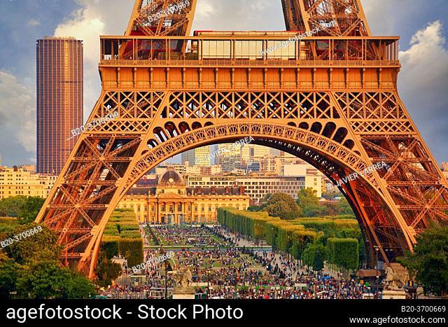 Champ de mars. Eiffel tower. Paris. France