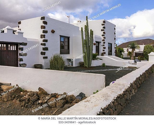 Houses in Guatiza. Lanzarote. Canary Islands. Spain. Europe