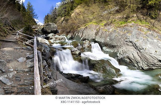 The cascades of the river Isel in national Park Hohe Tauern  They are one of the top attraction in the NP Hohe Tauern and a special educational nature trail...