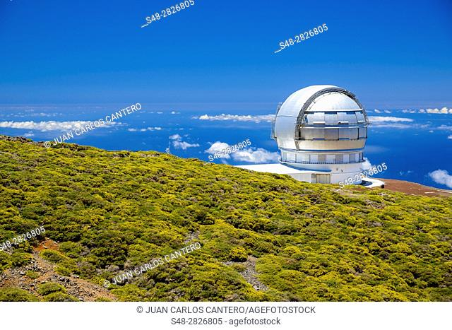 Gran telescopio de Canarias. La Palma. Islas Canarias. España. Europa. El Gran Telescopio Canarias es un proyecto español