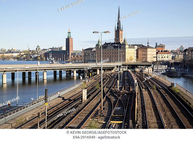 Cityscape and Railway, Stockholm; Sweden
