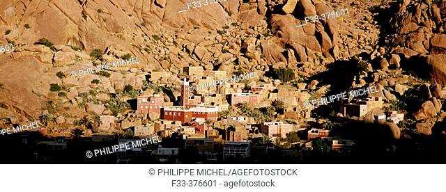 Adaï village, Tafraoute region, Atlas, Morocco