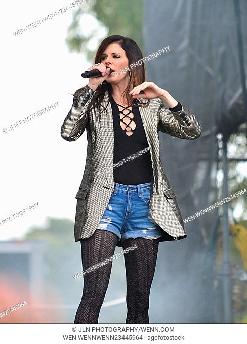 1st annual Kiss 99.9 Chilli Cookoff at CB Smith Park Featuring: Karen Fairchil of Little Big Town Where: PEMBROKE PINES, Florida