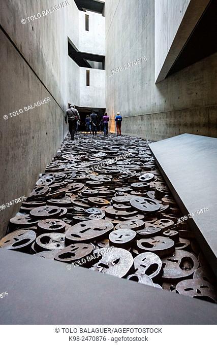 Shalechet (fallen leaves), art installation by Menashe Kadishman, Jewish Museum (architect: Daniel Libeskind) , Berlin, Germany