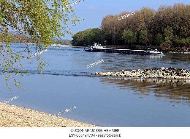 Danube near Vienna, Östereich