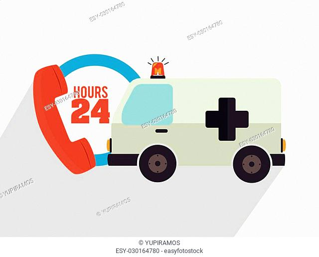 Emergency and rescue icons graphic design, vector eps10