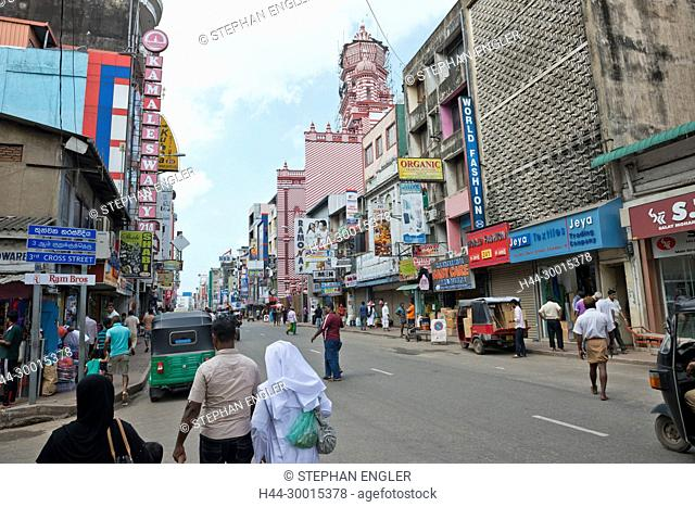 Sri Lanka, Colombo, mosque Asia, capital mosque, Jami Ul Alfar